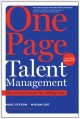 Cover for One Page Talent Management, With a New Introduction: Eliminating Complexity...