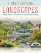 Cover for Landscapes: super-quick techniques for amazing drawings
