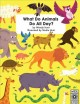 Cover for What do animals do all day?