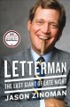 Cover for Letterman: the last giant of late night