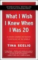 Cover for What I wish I knew when I was 20: a crash course on making your place in th...