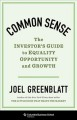 Cover for Common sense: the investor's guide to equality, opportunity and growth
