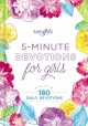 Cover for 5-minute devotions for girls: featuring 180 daily devotions