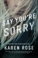 Cover for Say you're sorry