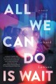 Cover for All we can do is wait: a novel