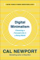 Cover for Digital minimalism: on living better with less technology