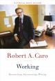 Cover for Working: researching, interviewing, writing