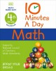Cover for 10 minutes a day math: 4th grade workbook