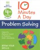 Cover for 10 minutes a day problem solving. 4th grade workbook