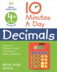 Cover for 10 minutes a day decimals. 4th grade workbook