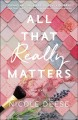 Cover for All that really matters