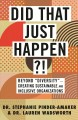 """Cover for Did that just happen?!: beyond """"diversity""""--creating sustainable and inclus..."""