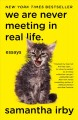 Cover for We are never meeting in real life: essays