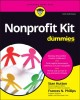 Cover for Nonprofit Kit for Dummies