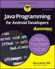 Cover for Java programming for Android developers
