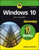 Cover for Windows 10 all-in-one for dummies