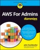 Cover for AWS for admins for dummies