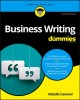 Cover for Business Writing for Dummies