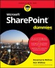 Cover for Sharepoint 2019 for Dummies