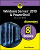 Cover for Windows server 2019 & PowerShell all-in-one for dummies