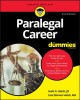 Cover for Paralegal career for dummies