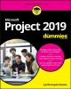 Cover for Microsoft Project 2019 for Dummies