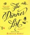 Cover for The dinner list: a novel
