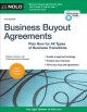 Cover for Business buyout agreements: plan now for all types of business transitions