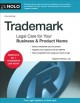 Cover for Trademark: legal care for your business & product name