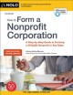 Cover for How to form a nonprofit corporation