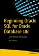 Cover for Beginning Oracle SQL for Oracle database 18c: from novice to professional