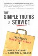 Cover for The simple truths of service: inspired by Johnny the Bagger