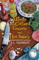 Cover for Murder with collard greens and hot sauce