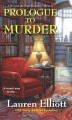 Cover for Prologue to murder