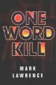 Cover for One word kill