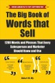 Cover for The big book of words that sell: 1200 words and phrases that every salesper...