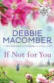 Cover for If not for you: a novel [Large Print]