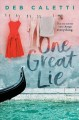 Cover for One Great Lie