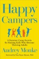 Cover for Happy Campers: 9 Summer Camp Secrets for Raising Kids Who Become Thriving A...