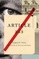 Cover for Article 353: a novel