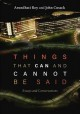 Cover for Things that can and cannot be said: essays and conversations