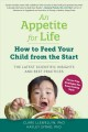 Cover for An appetite for life: how to feed your child from the start