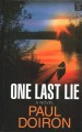 Cover for One last lie [Large Print]