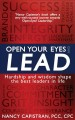 Cover for Open Your Eyes and Lead: Hardship and wisdom shape the best leaders in life