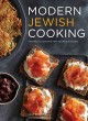 Cover of book Modern Jewish cooking, showing small squares of dark bread with cream and lox
