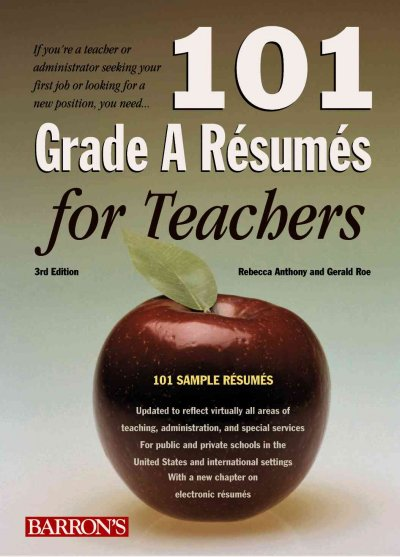 101 Grade A Resumes for Teachers