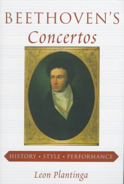 Cover of Beethoven's Concertos: History, Style, Performance