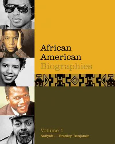 Cover of African American Biographies