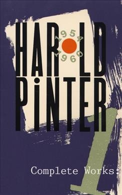 Cover of Harold Pinter Complete Works Vol 1