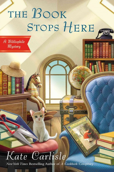 Cover of The Book Stops Here: A Bibliophile Mystery